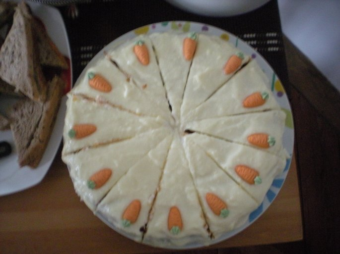 Carrot cake, made using German ingredients
