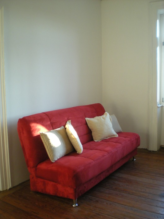 The sofa, just after we moved in... at that point it was the only item of furniture in the living room