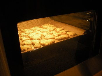 biscuits in oven