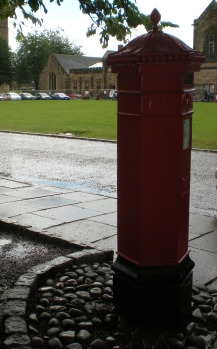 A post box in Durham, England