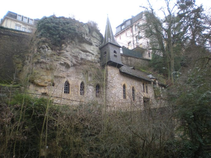Church in a cliff, Luxembourg