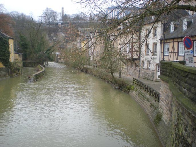 River Alzette, Grund, Luxembourg City