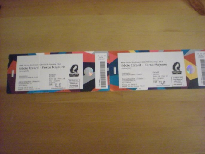 Eddie Izzard tickets!!
