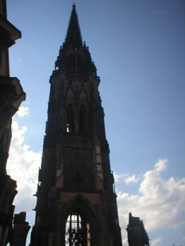 The spire of the Nikolai church