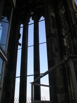 Inside the spire