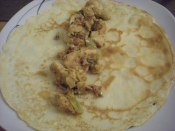 Pancake with chicken
