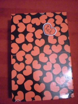 Shoebox with hearts