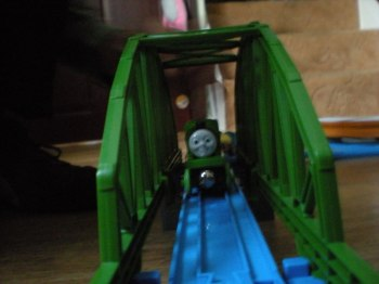 Toy train bridge