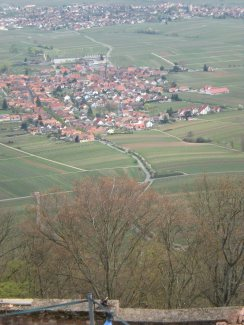Looking down from the Rietburg