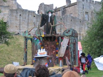 Oddsocks performance of The Tempest at Prudhoe Castle, summer 2005