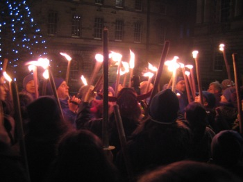 Torch-light procession