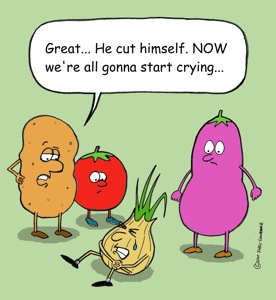 onion crying
