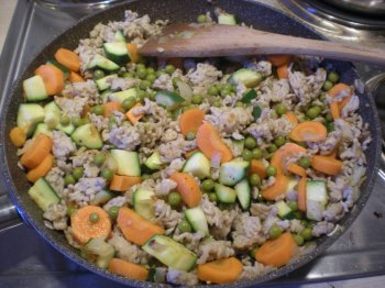 Turkey mince and veg