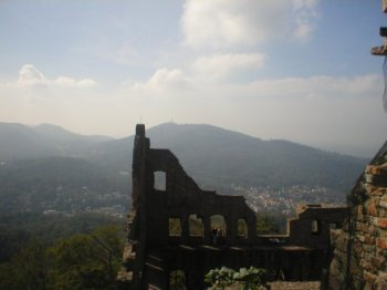 View from the old castle, Baden-Baden
