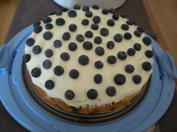Blueberry cake iced