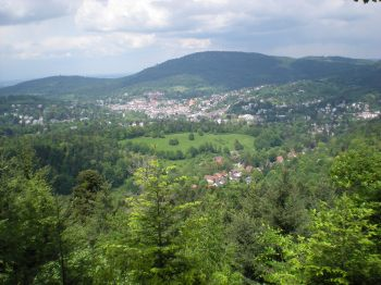 Looking down on Baden-Baden