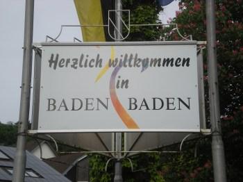 Welcome to Baden Baden!