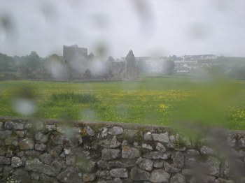Hore Abbey... somehwre behind the raindrops