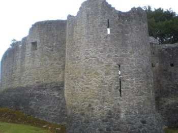 The outside of Adare Castle