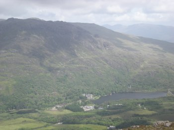 More of the view... the building you can see across the water is Kylemore Abbey