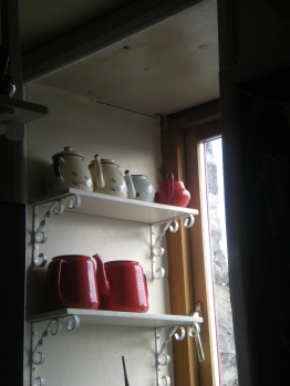 Teapots at Ard Bia