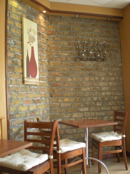 Cafe Oya... I loved the wall decorations!