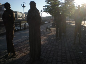 Famine Memorial in the evning sun