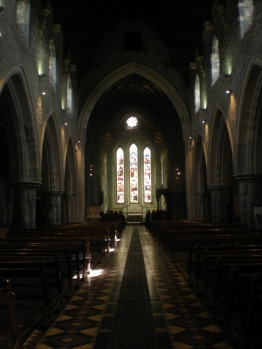Inside St Canice's Cathedral