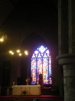 Stained glass in the Black Abbey