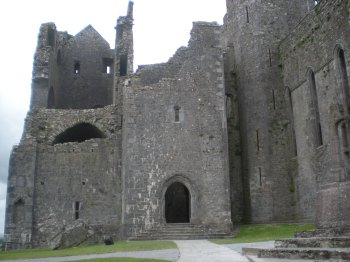 Part of the Rock of Cashel (can anyone else see the face on the left-hand side?)