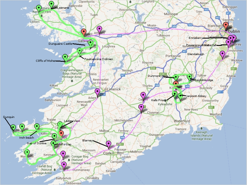 How we drove around Ireland