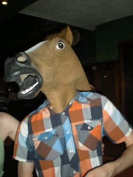 A horse walks into a bar...