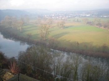 View of the River Neckar and beyond from the Nuremberg Tower