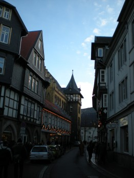 Christmas lights in Goslar