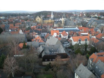 Goslar, viewed from the top of a tower