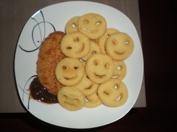You're never too old for a smiley dinner!