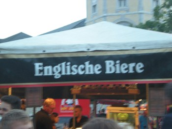 This stand was selling English beers
