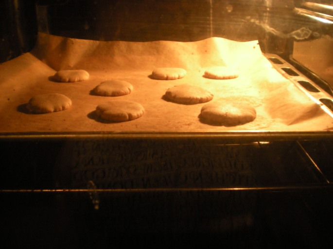 Biscuits in the oven