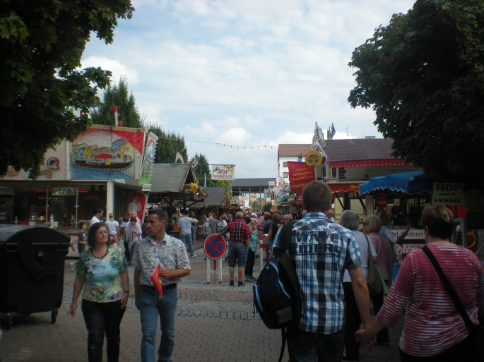 Entering the Wurstmarkt...