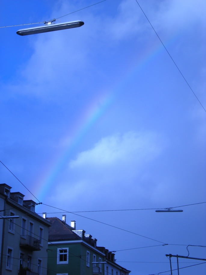 A rainbow over Karlsruhe