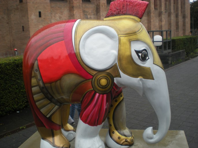 Sorry I cut off your feet, Mr Roman Elephant....
