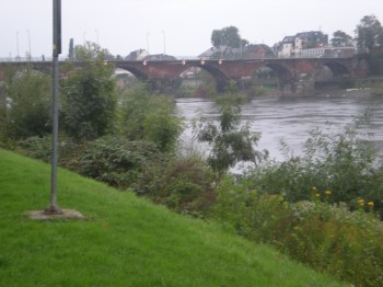 The River Mosel and the Römerbrücke (Roman Bridge)