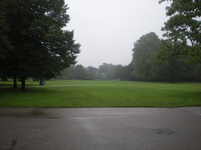 A rather wet Schlosspark