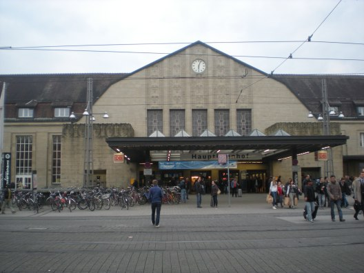 Karlsruhe train station, not at 5:30 a.m.!