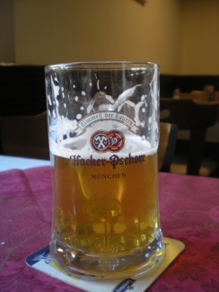 I took a photo of Jan's beer because I liked the glass...