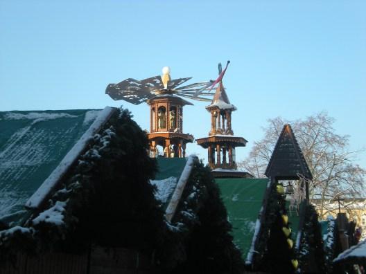 Snow at Karlsruhe Weihnachtsmarkt, December 2012