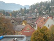 The view from our hotel room window in Feldkirch