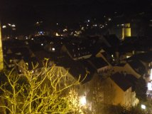 Feldkirch from above, by night