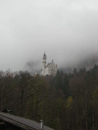 Clouds surrounding Schloss Neuschwanstein