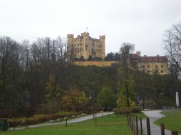 Schloss Hohenschwangau viewed from beside the lake